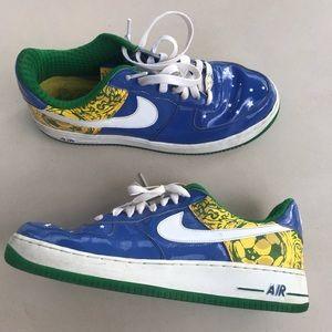 NIKE AIR FORCE 1 RONALDINHO BRAZIL WORLD CUP SZ 11